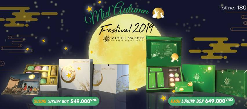 Mochi Sweets: Ra mắt mẫu hộp trung thu mới Kaou & Susuki - Món quà của sự may mắn